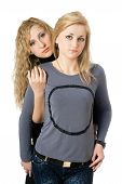 pic of friendship belt  - Portrait of two pretty young women - JPG
