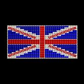 British Flag Jewelry Ornament Design Isolated