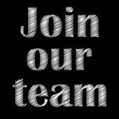 Join Our Team, Great Design For Any Purposes. Office Worker. Sign Banner. Business Team. Vector Temp poster