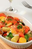 pic of grated radish  - Baked vegetables with cheese and herbs - JPG