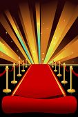 picture of exclusive  - A vector illustration of red carpet background - JPG