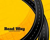 Winding Journey Road Trip Background Vector Illustration poster