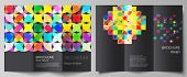 The Minimal Vector Illustration Layouts. Modern Creative Covers Design Templates For Trifold Brochur poster