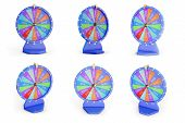 3d Illustration Colorful Wheel Of Luck Or Fortune. Set Roulette Fortune Spinning Wheels, Casino Whee poster