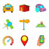 Signaling Icons Set. Cartoon Set Of 9 Signaling Icons For Web Isolated On White Background poster