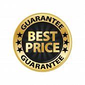 Best Price Guarantee Gold Badge Vector Eps10. Best Price Shop Discount. poster