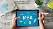Mba Master Business Administration Education Learning Study E-learning Personal Growth And Career De poster