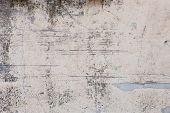 Loft-style Plaster Walls, Gray, White, Empty Space Used As Wallpaper. Popular In Home Design Or Inte poster