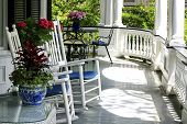 Rocking Chairs On Southern Porch Charleston South Carolina poster