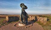 Statue Of Queen Dagmar Looks Towards Ribe, Denmark
