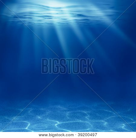 blue deep see underwater background