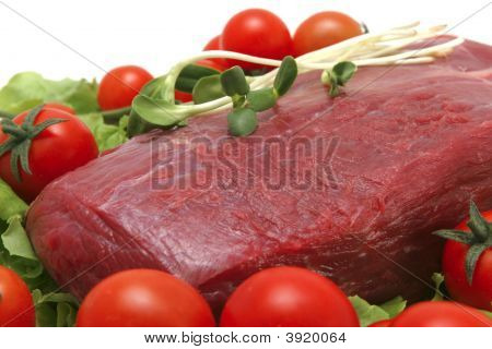 Fresh Meat And Tomatoes