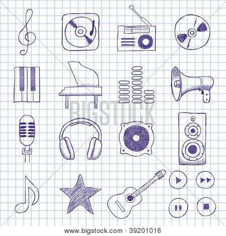 Vector images on music