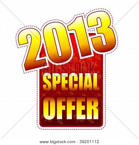 Special Offer Year 2013 Label