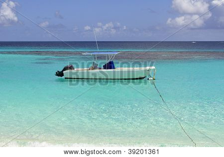 Boat In The Caribbean.