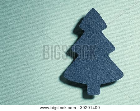 Vintage abstract christmas tree light blue background