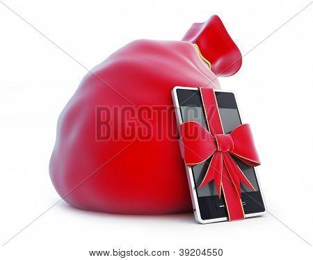 Bolsa de Santa Claus, Smartphone de regalo