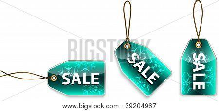 Green Tags com a venda de palavra de suspensão