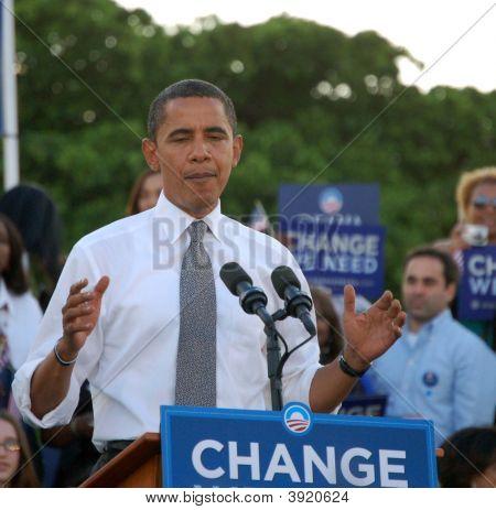 Obama At Bayfront Park