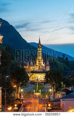 The Basilica Of Our Lady In Lourdes, France