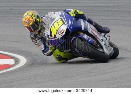 Italian Valentino Rossi Of Fiat Yamaha Team At 2008 Polini Malaysian Motorcycle Grand Prix Sepang Ci