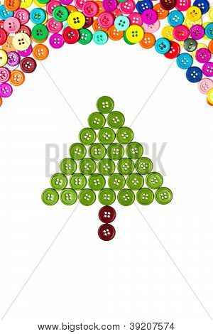 New Year Tree With Copy Space