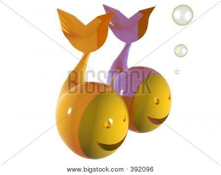 Zodiac: Emoticon 3d Pisces