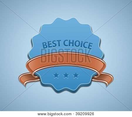 Best Choice Sign. Vector illustration