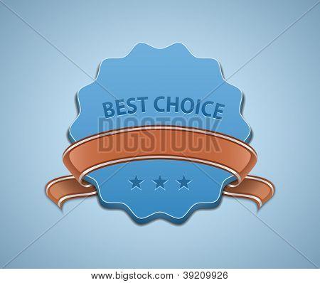 Best Choice Sign. Vector illustration