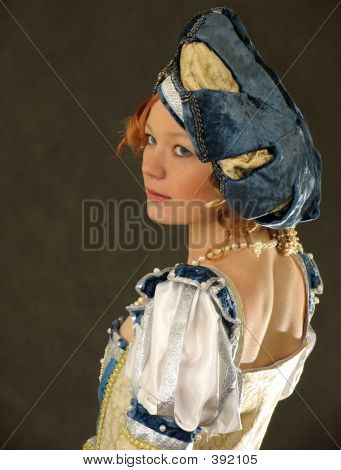 Girl In Polish Clothes Of 16 Century