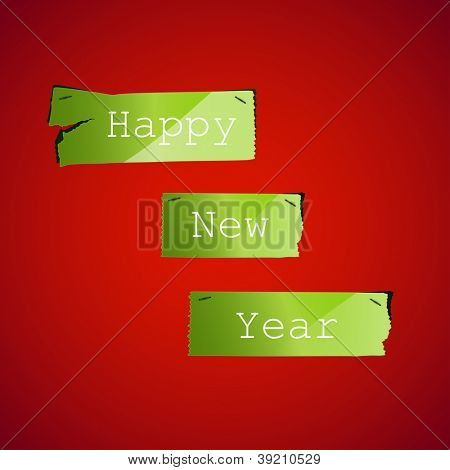 Happy New Year Ripped paper background