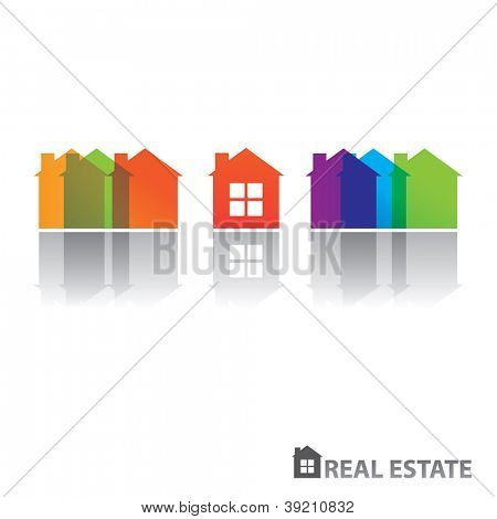 Real estate design. Vector concept