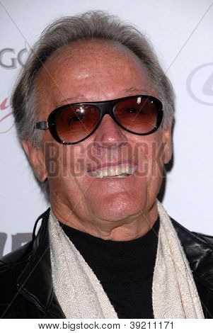 LOS ANGELES - NOV 19:  Peter Fonda arrives to the 'Silver Linings Playbook' LA Premiere at Academy of Motion Picture Arts and Sciences on November 19, 2012 in Beverly Hills, CA
