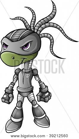 Ninja Warrior Alien Cyborg Vector