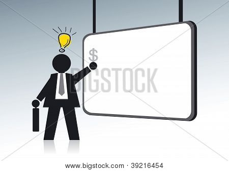 Idea light bulb Businessman
