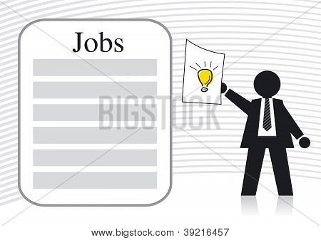 Businessman and Job