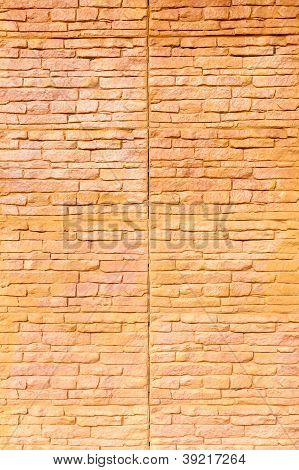 Orange Brown Brick Wall