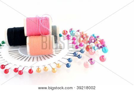 Beads, Pin, Thread