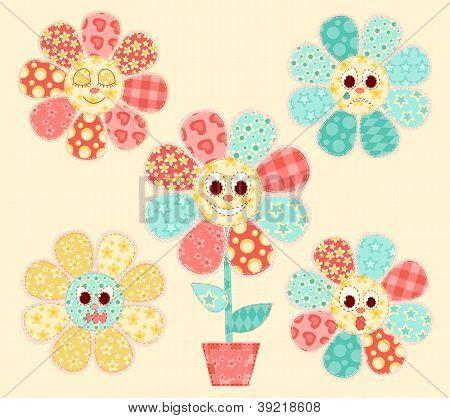 Flores de aplicativo definida.