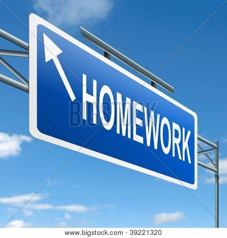 Homework Concept.
