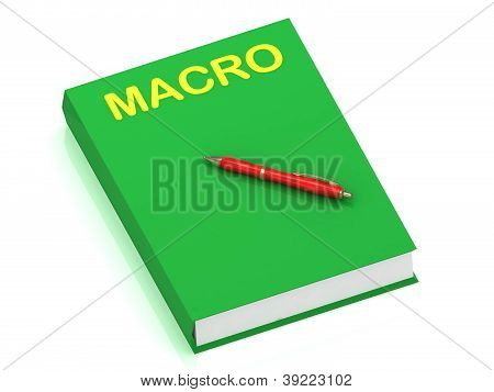 Macro Inscription On Cover Book