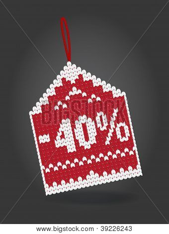 40 percent off discount price tag