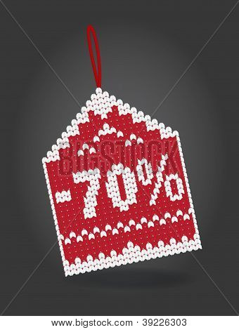 70 percent off discount price tag