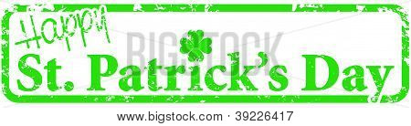 Happy St. Patrick's Day Rubber Stamp