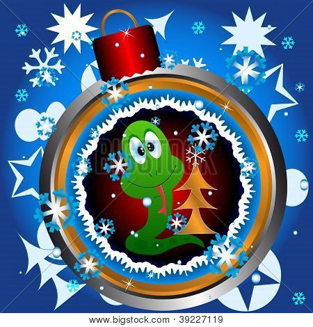 Esfera em uma arvore de Natal