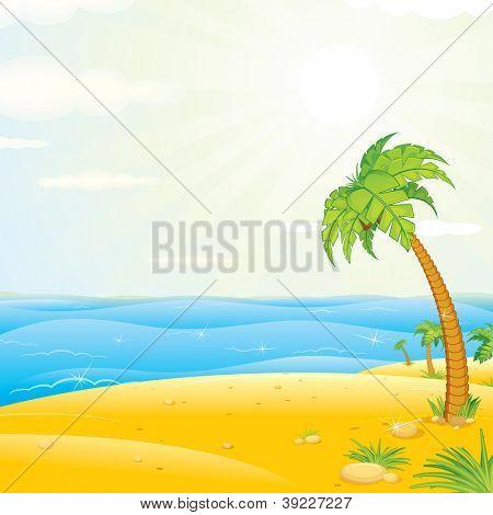 Sunny Tropical Island