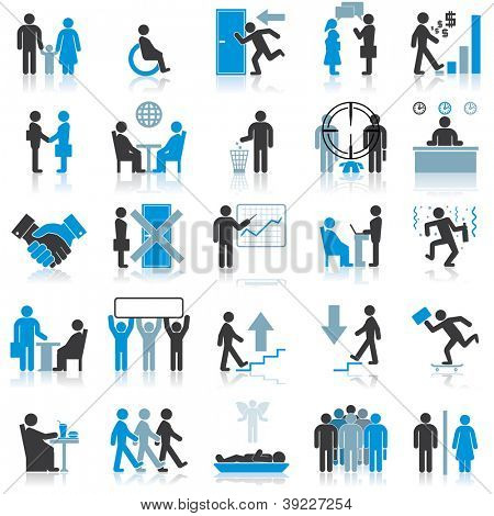 Businessman Icons. Vector Illustrations