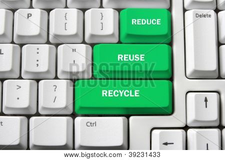 Computer Keyboard With Recycle Concept