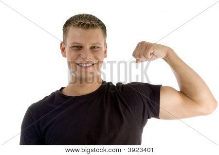 Posing Muscular Man