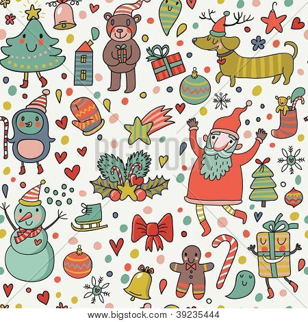 Cartoon holiday background. Cute funny illustration for children